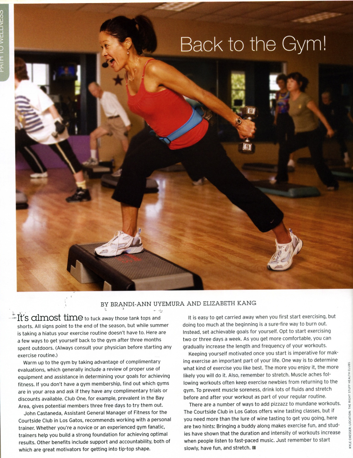 Eucalyptus Magazine Gym Article