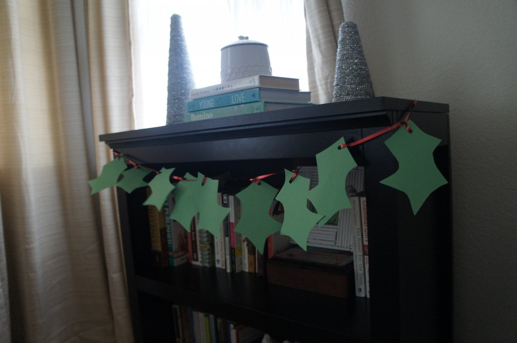 DIY Holly leaves