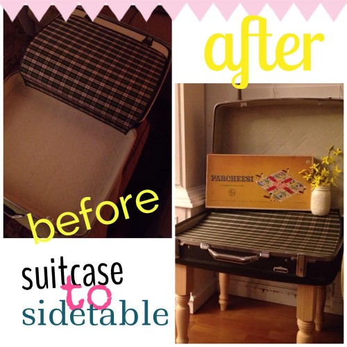 {Suitcase makeover by Larisa Majors from her blog Life With Larisa.}
